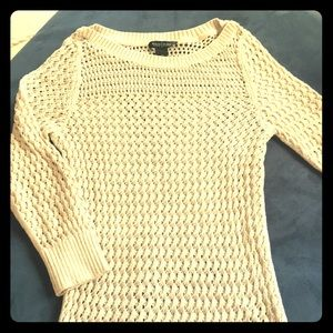 WHBM cream and gold sweater